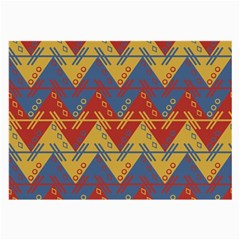 Aztec South American Pattern Zig Large Glasses Cloth