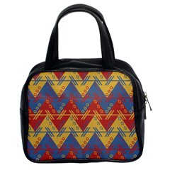 Aztec South American Pattern Zig Classic Handbags (2 Sides)