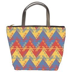 Aztec South American Pattern Zig Bucket Bags