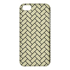 Brick2 Black Marble & Beige Linen (r) Apple Iphone 5c Hardshell Case by trendistuff
