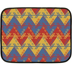 Aztec South American Pattern Zig Fleece Blanket (mini)