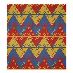 Aztec South American Pattern Zig Shower Curtain 66  X 72  (large)