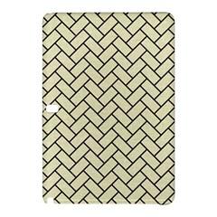 Brick2 Black Marble & Beige Linen (r) Samsung Galaxy Tab Pro 12 2 Hardshell Case by trendistuff