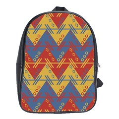 Aztec South American Pattern Zig School Bags(large)