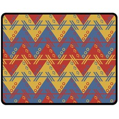 Aztec South American Pattern Zig Fleece Blanket (medium)