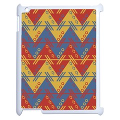 Aztec South American Pattern Zig Apple Ipad 2 Case (white) by BangZart