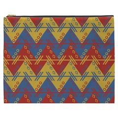 Aztec South American Pattern Zig Cosmetic Bag (xxxl)