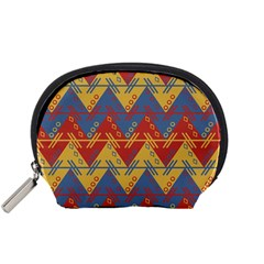 Aztec South American Pattern Zig Accessory Pouches (small)  by BangZart