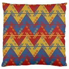 Aztec South American Pattern Zig Standard Flano Cushion Case (one Side) by BangZart