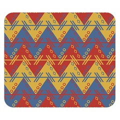Aztec South American Pattern Zig Double Sided Flano Blanket (small)