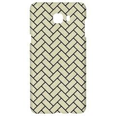 Brick2 Black Marble & Beige Linen (r) Samsung C9 Pro Hardshell Case  by trendistuff