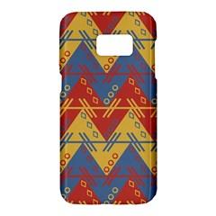 Aztec South American Pattern Zig Samsung Galaxy S7 Hardshell Case  by BangZart