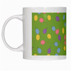 Balloon Grass Party Green Purple White Mugs by BangZart