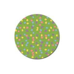 Balloon Grass Party Green Purple Magnet 3  (round) by BangZart