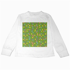 Balloon Grass Party Green Purple Kids Long Sleeve T Shirts