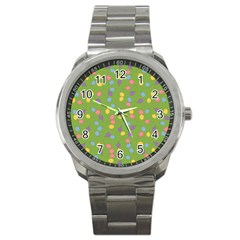 Balloon Grass Party Green Purple Sport Metal Watch by BangZart