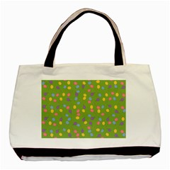 Balloon Grass Party Green Purple Basic Tote Bag by BangZart