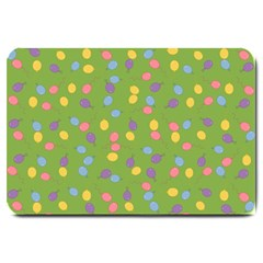 Balloon Grass Party Green Purple Large Doormat  by BangZart