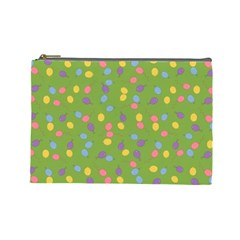 Balloon Grass Party Green Purple Cosmetic Bag (large)