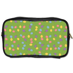 Balloon Grass Party Green Purple Toiletries Bags 2 Side