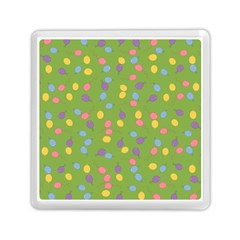 Balloon Grass Party Green Purple Memory Card Reader (square)