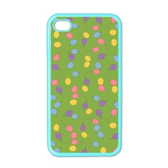 Balloon Grass Party Green Purple Apple Iphone 4 Case (color) by BangZart