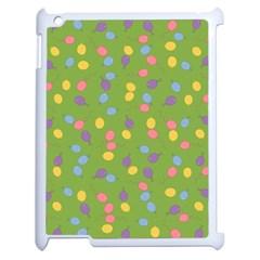 Balloon Grass Party Green Purple Apple Ipad 2 Case (white) by BangZart