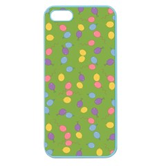 Balloon Grass Party Green Purple Apple Seamless Iphone 5 Case (color)