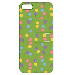 Balloon Grass Party Green Purple Apple Iphone 5 Hardshell Case With Stand by BangZart
