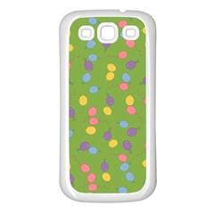 Balloon Grass Party Green Purple Samsung Galaxy S3 Back Case (white) by BangZart