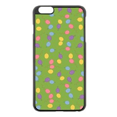 Balloon Grass Party Green Purple Apple Iphone 6 Plus/6s Plus Black Enamel Case