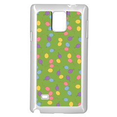 Balloon Grass Party Green Purple Samsung Galaxy Note 4 Case (white) by BangZart