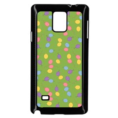 Balloon Grass Party Green Purple Samsung Galaxy Note 4 Case (black)