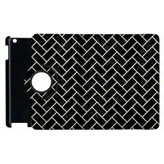 Brick2 Black Marble & Beige Linen Apple Ipad 3/4 Flip 360 Case by trendistuff