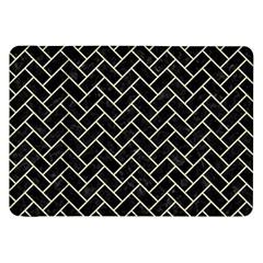 Brick2 Black Marble & Beige Linen Samsung Galaxy Tab 8 9  P7300 Flip Case by trendistuff