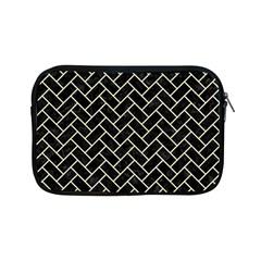 Brick2 Black Marble & Beige Linen Apple Ipad Mini Zipper Cases by trendistuff