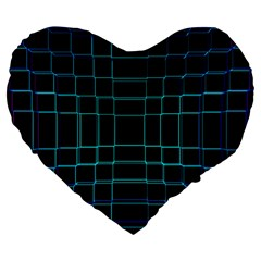 Abstract Adobe Photoshop Background Beautiful Large 19  Premium Flano Heart Shape Cushions by BangZart