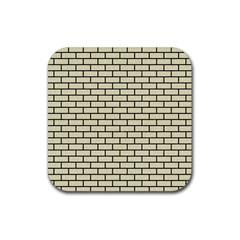 Brick1 Black Marble & Beige Linen (r) Rubber Square Coaster (4 Pack)  by trendistuff