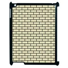 Brick1 Black Marble & Beige Linen (r) Apple Ipad 2 Case (black) by trendistuff