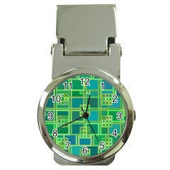 Green Abstract Geometric Money Clip Watches by BangZart