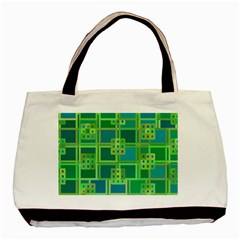 Green Abstract Geometric Basic Tote Bag