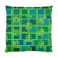 Green Abstract Geometric Standard Cushion Case (one Side) by BangZart