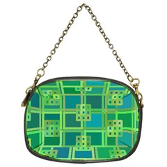 Green Abstract Geometric Chain Purses (two Sides)  by BangZart