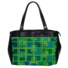 Green Abstract Geometric Office Handbags by BangZart
