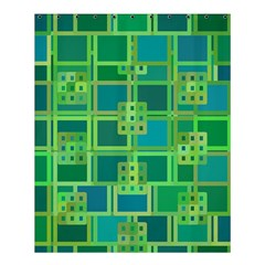 Green Abstract Geometric Shower Curtain 60  X 72  (medium)  by BangZart