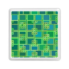 Green Abstract Geometric Memory Card Reader (square)  by BangZart