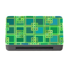 Green Abstract Geometric Memory Card Reader With Cf by BangZart