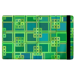 Green Abstract Geometric Apple Ipad 2 Flip Case by BangZart