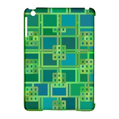 Green Abstract Geometric Apple Ipad Mini Hardshell Case (compatible With Smart Cover) by BangZart
