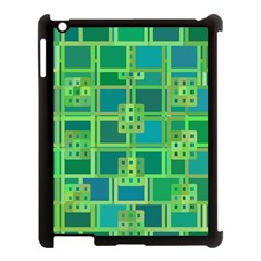 Green Abstract Geometric Apple Ipad 3/4 Case (black) by BangZart